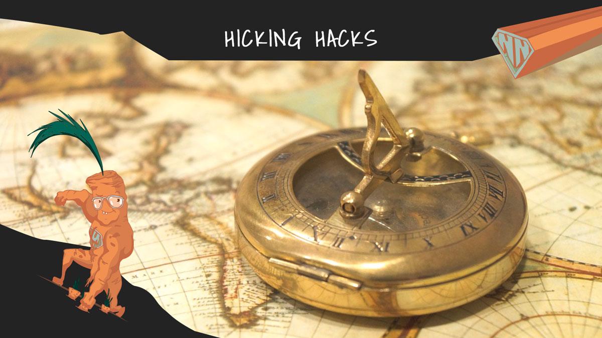 hiking hacks tipps zur bestimmung der himmelsrichtung. Black Bedroom Furniture Sets. Home Design Ideas