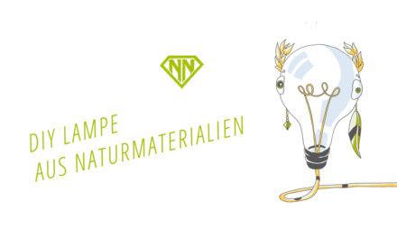 DIY Wohnen: So baust du eine Lampe aus Naturmaterialien